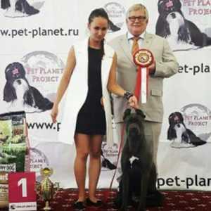 Софья Сергеева на выставке собак