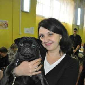 Лариса Черкасова с собакой