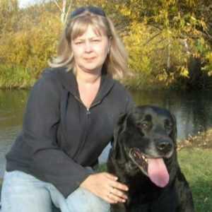 Юлия Хапинина с собакой