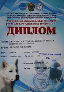 "Диплом ""Достояние Сибири"""