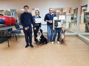 Выпуск группы по дрессировке собак в Иркутске за апрель 2019 года
