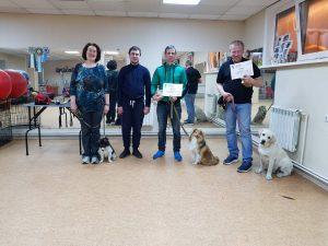 Выпуск группы по дрессировке собак в Иркутске за Апрель 2019