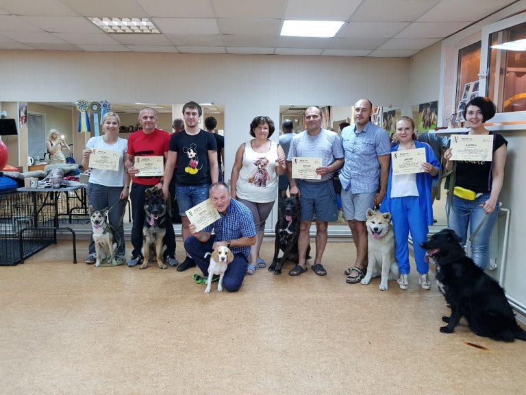 Выпуск группы по дрессировке собак в Иркутске за Июль 2019