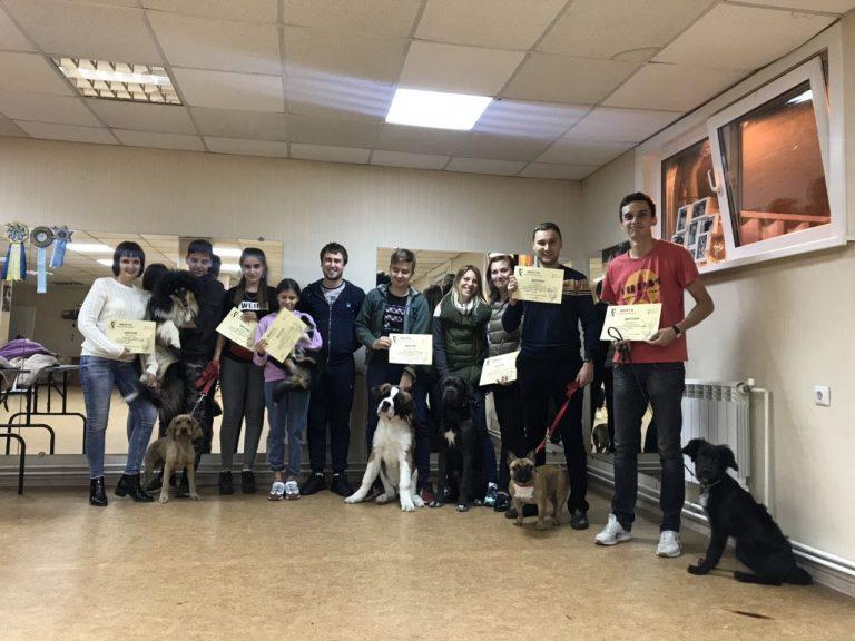 Выпуск группы по дрессировке собак в Иркутске за Октябрь 2019