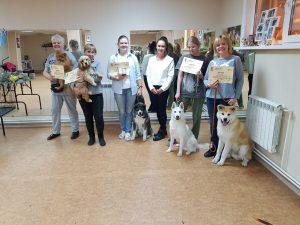Выпускники курсов по дрессировке собак в Иркутске за октябрь 2019 года