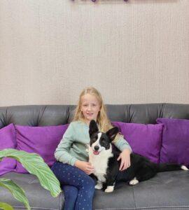 Две маленькие принцессы Аня и Эмма в гостях Lapkins  Блестящая и ухоженная шерст...